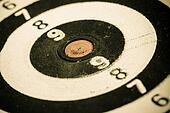Black and white target as sport background