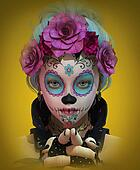 Little Sugar Skull Girl, 3d CG