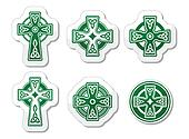 Irish, Scottish Celtic cross on whi