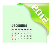 December of 2012 calendar