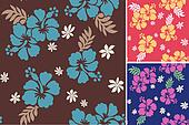 hibiscus repeated flower print