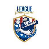 Baseball League Champions Retro