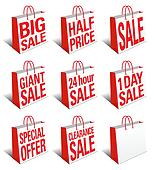 SALE Shopping Bags Icon Carrier Bag