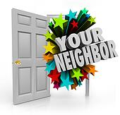 Your Neighbor Open Door Community Meet Introduce People Next Doo