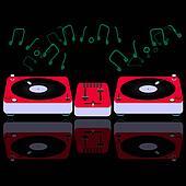 Red DJ console