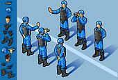 isometric military peacekeepers