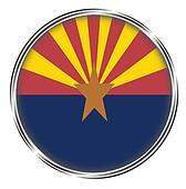 Button badge of arizona