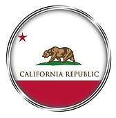 Button Badge of California