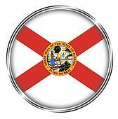 Button badge of Florida