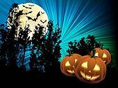 Pumpkins and full moon