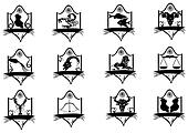 Icon title zodiac.