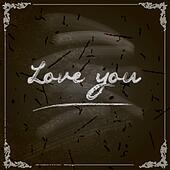 Happy Valentine's Day Design. Blackboard