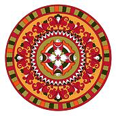 Russian traditional circle ornament