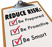 Reduce Risk Be Prepared Proactive Smart Checklist Clipboard