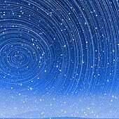 Beautiful star trail image during at night in arctic