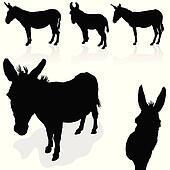 donkey black silhouette