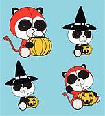 panda bear baby cartoon halloween2