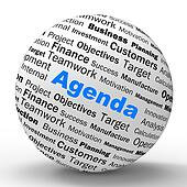 Agenda Sphere Definition Means Schedule Planner Or Reminder