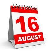 Calendar. 16 August.