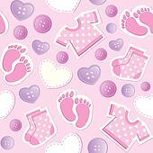 baby pink seamless pattern