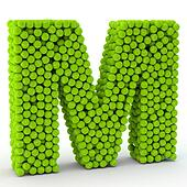 Letter M tennis balls