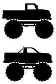 monster truck car pickup illustration