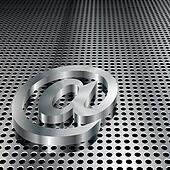 3D Metallic At Symbol