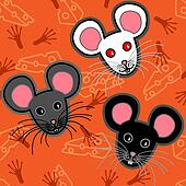 Seamless mice pattern
