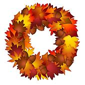 Fall Leaves and Acorns Wreath