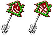 House keys for sale and for rent