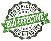 Eco effective green grunge retro style isolated seal
