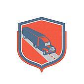 Metallic  Container Truck and Trailer Shield Retro
