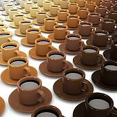 3d Lots of coffee cups