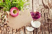 beautiful blank easter candle and tag
