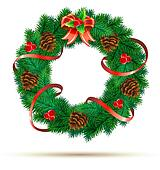 Christmas green wreath