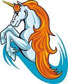 Fantasy unicorn horse
