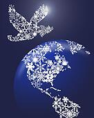 Christmas Peace Dove On Earth
