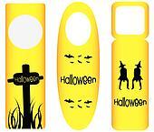 do not disturb door hanger with halloween design