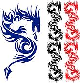 Asian tattoo dragon.
