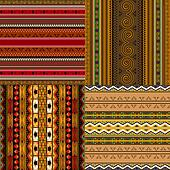 Decorative African patterns