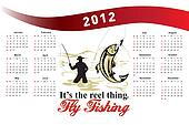Fishing Poster Calendar 2012 Trout Fish