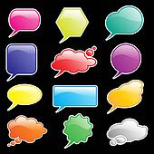 Speech bubbles bright