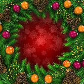 3d Christmas decoration background