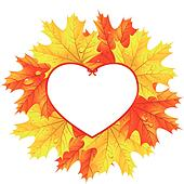 Heart Leaves Clip Art - Royalty Free - GoGraph