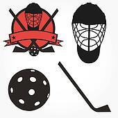 Vector unihockey floorball hockey