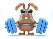3d Bunny weightlifter