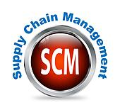 Round button of supply chain management - scm