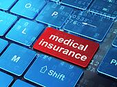 Insurance concept: Medical Insurance on computer keyboard background