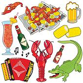 Cajun Icons and clipart