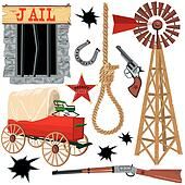 Old wild west icons